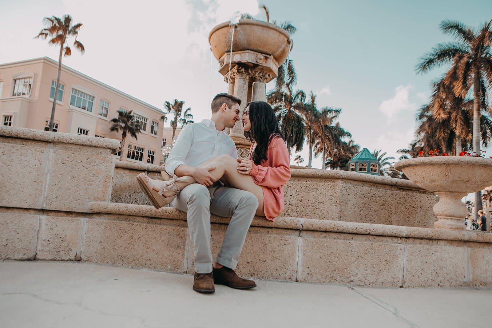 west palm engagement photos
